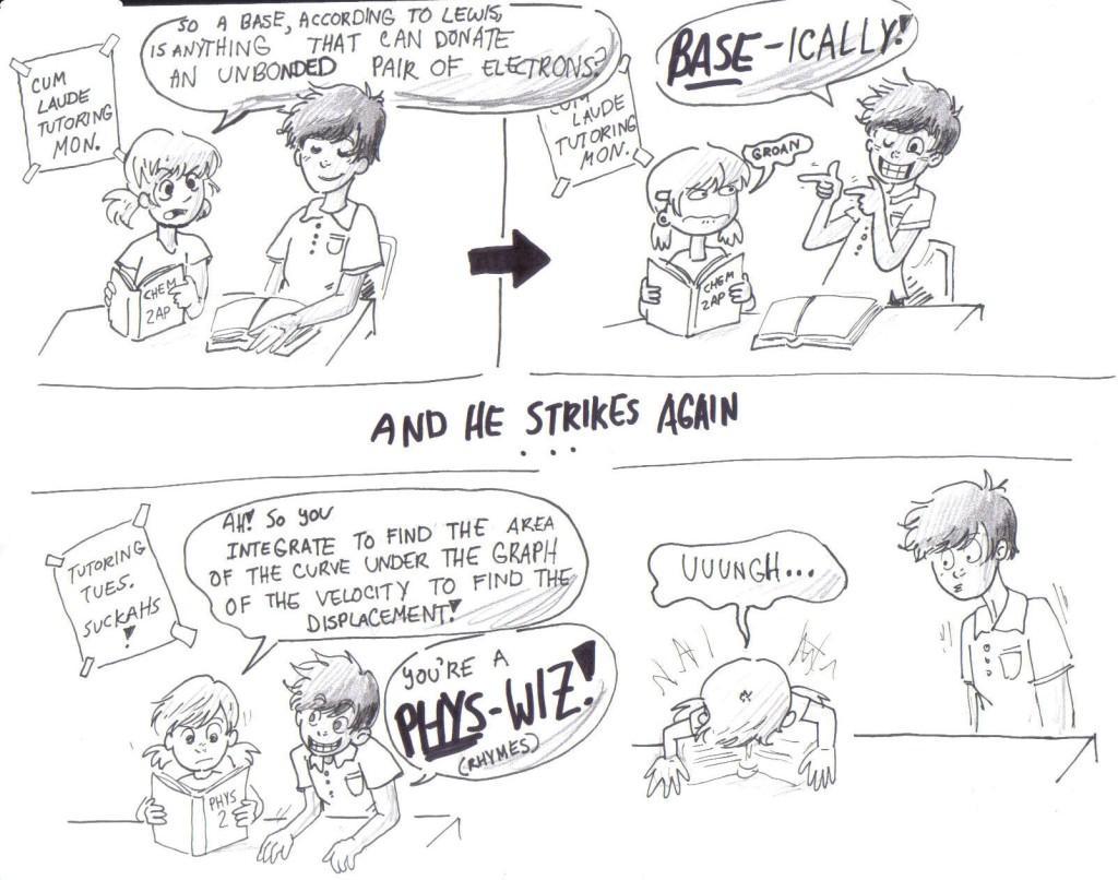 the corny cum laude comic