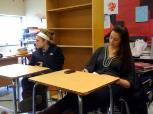 Israel Awareness Club officers discuss ideas for the new club. Photo taken by: Alex Feldman ('11)/ Eastside Business Manager