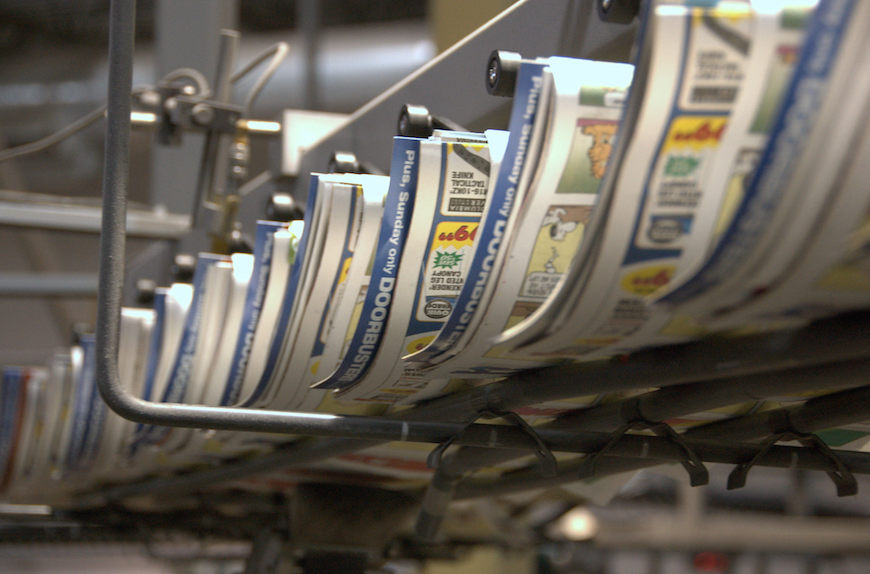 Newspaper printing should be discontinued in the United States