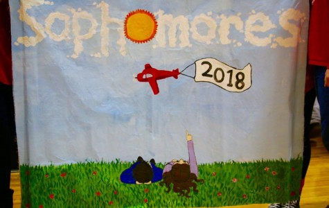 Cherry Hill East banner contest between the grades
