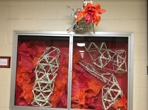 East students create Art Sculptures from Newspapers