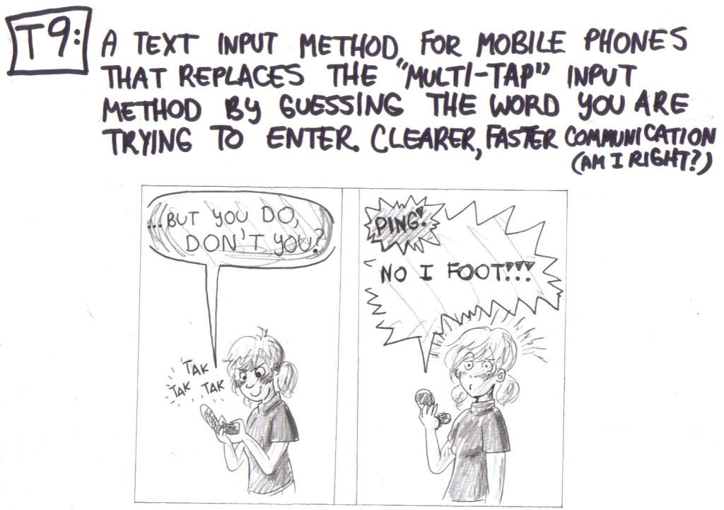 Tak Tak Tak Texting T9 Another Crazy Comic by Nicolle