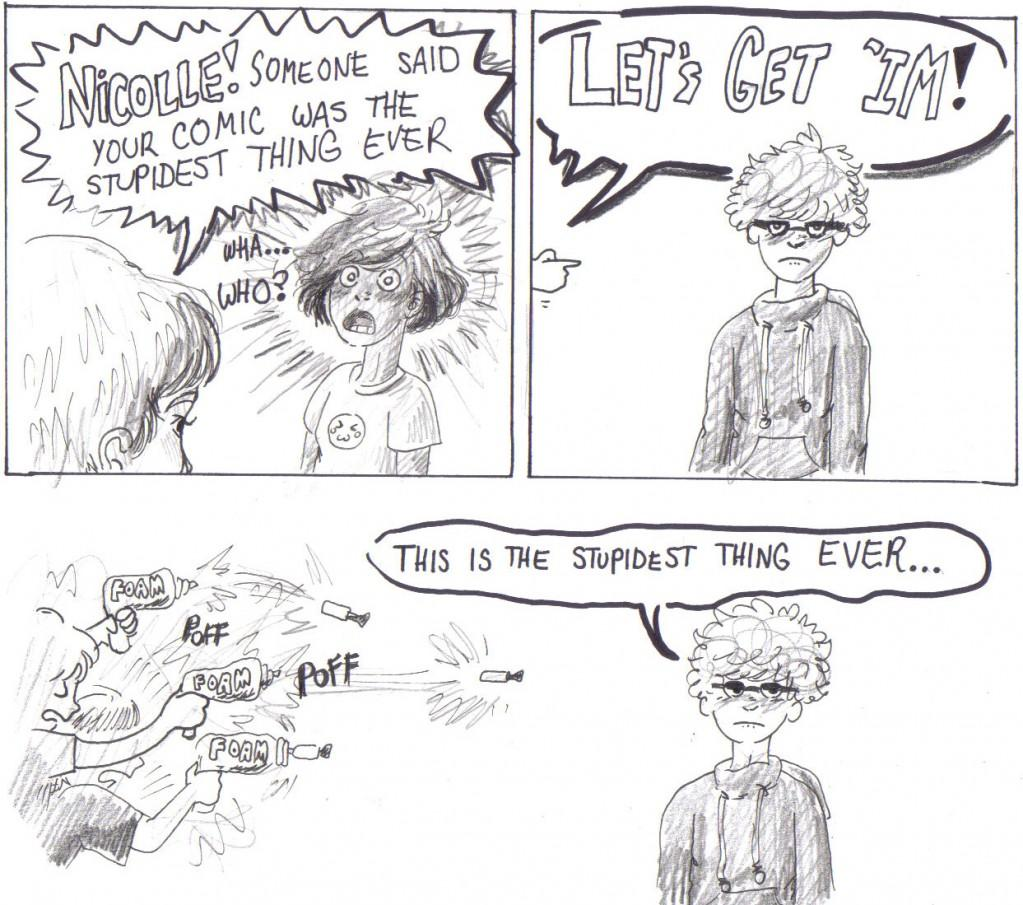death by foam dart guns another crazy comic by nicolle
