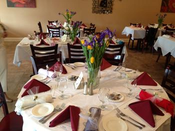 Customers can enjoy the ambience of the restaurant at the same time they savor their meal.