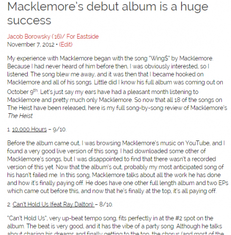 Click this link to read my initial thoughts on Macklemore & Ryan Lewis's The Heist (2012)