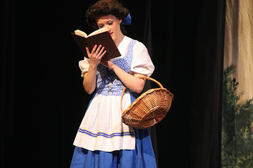 Aylesworth as Belle from Beauty and the Beast.