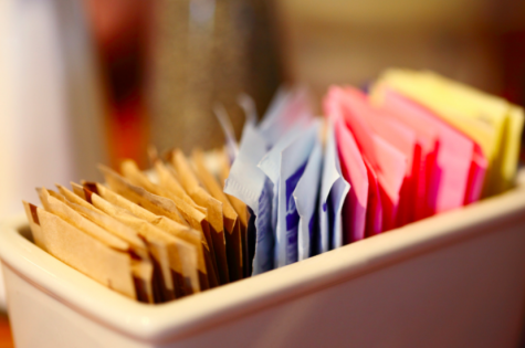 Granulated sugar packets should be available at the coffee cart for students