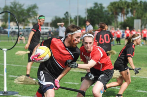 BROOMS UP: A group of students at Middlebury College turn Quidditch (from the Harry Potter series) into a real sport