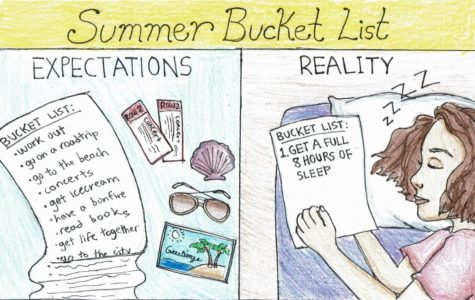 Over the summer, students struggle to complete bucket lists